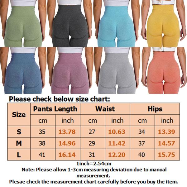 Women High Waist Yoga Shorts Gym Compression Leggings Sports Black,L