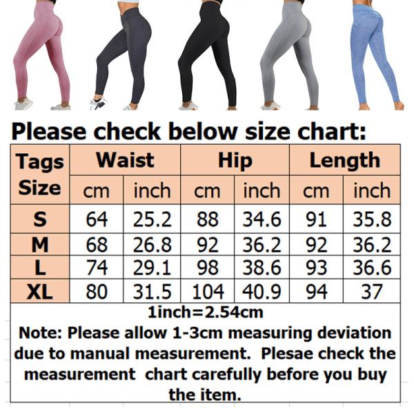 Women high waist yoga sweatpants jogging pants Gray,L