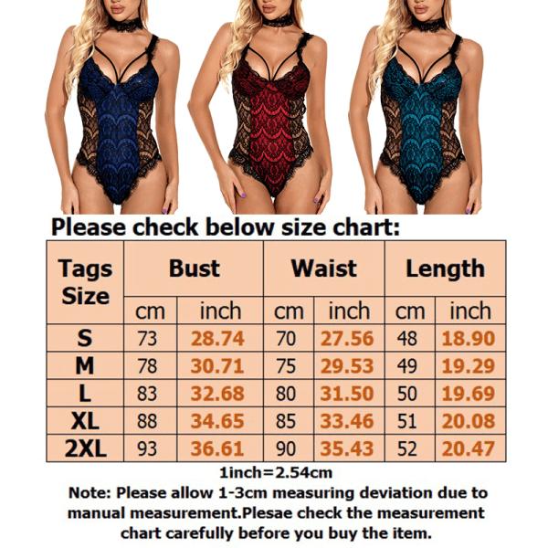 Women Lace Stitching Body Shaping One-Piece Sexy Underwear Set Dark Blue,XXL