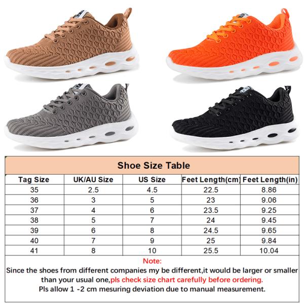 Women Mesh Cloth Running Socks Sneaker Lightweight Casual Shoes Orange,37