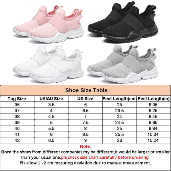 Women's Breathable Flying Weaving Cloth Athletic Casual Shoes Gray,37