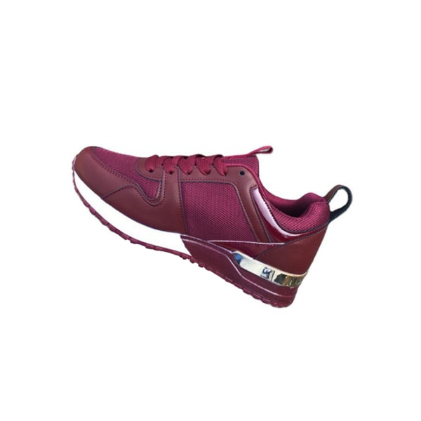 Women's casual low-top sneakers fashion running shoes red,38