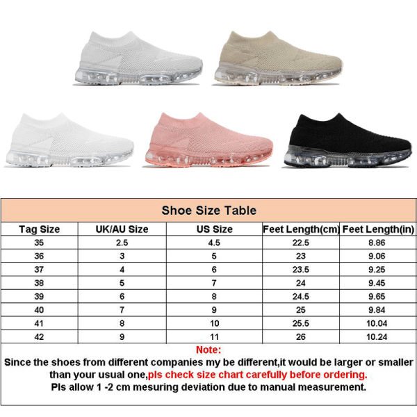 Women's fashion sneakers casual air cushion shoes breathable White,38