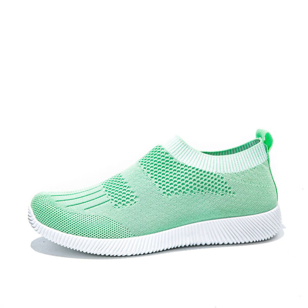 Women's Fashion Socks Shoes Soft Flying Woven Mesh Fabric Green,41