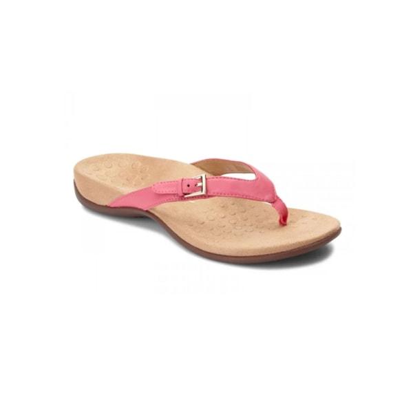 Women's flip flop solid color slippers open back light sandals Pink,36