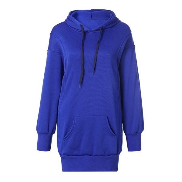 Women's Loose Sweatshirt Ladies Top Hoodie T-shirt blue,L
