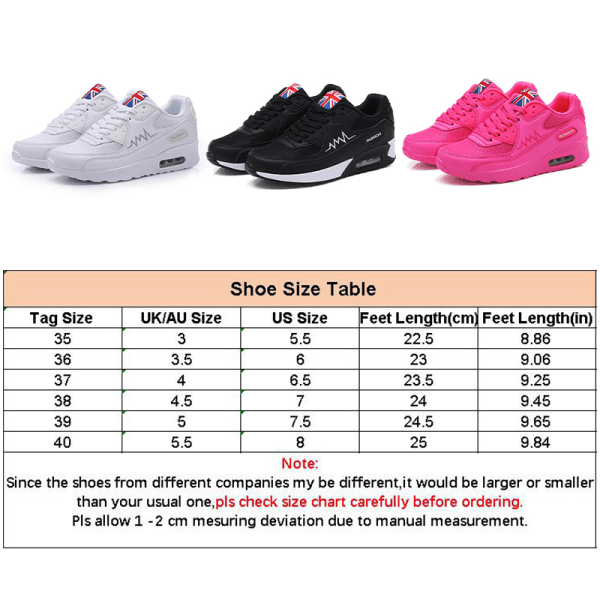 Women's Mesh Lace-up Platform Cushioned Sneakers Casual Shoes White,40