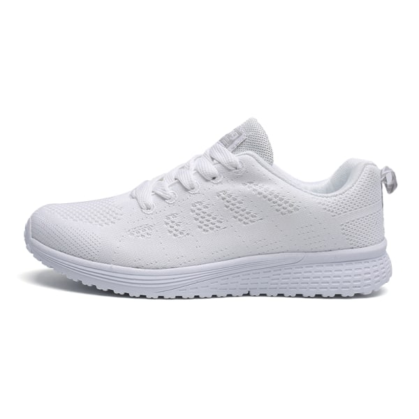Women's Mesh Running Sneakers Breathable Casual Athletic Shoes White,38