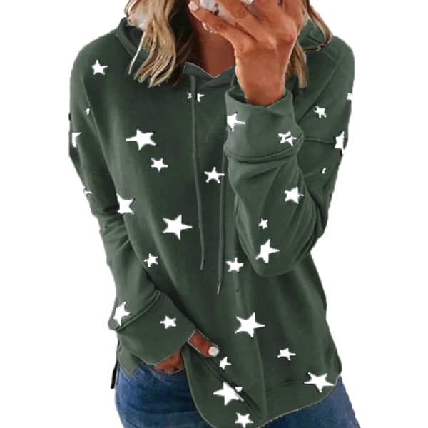 Women's Plus Size Casual Sweatshirt Pullover Hooded T-shirt Top ArmyGreen,L