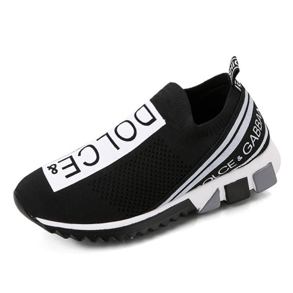 Women's Running  Platform Shoes Low Tube Sports Casual Sneakers Black,37