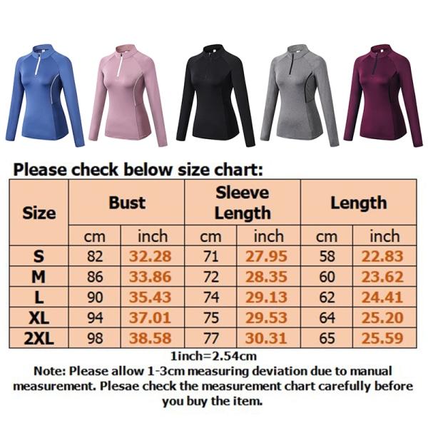 Women's running zipper long sleeve jersey sports training suit Pink,XXL
