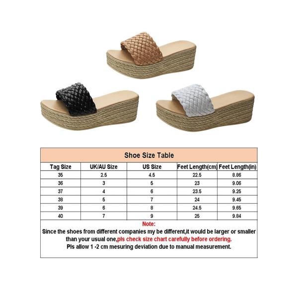 Women's Slippers Open Toe Sandals Platform High Heels Mules black,39