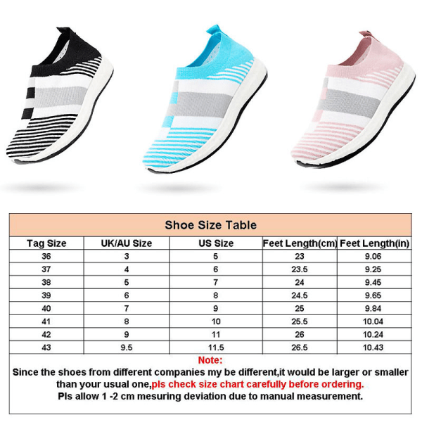 Women's soft sole casual shoes summer comfortable socks shoes Blue,39