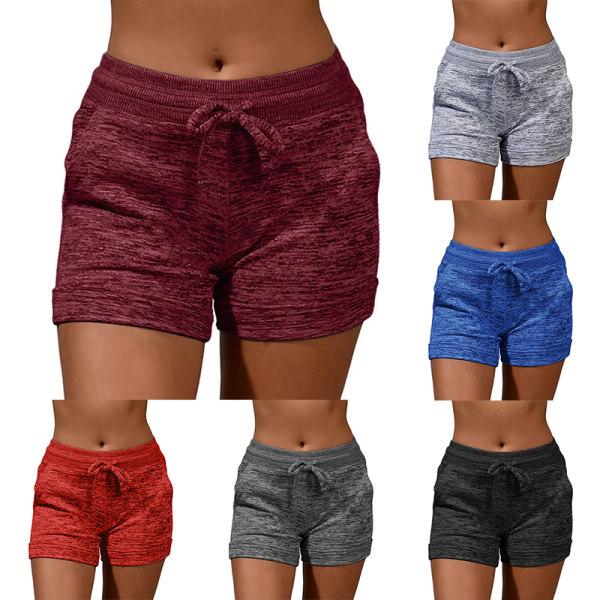 Women's sports shorts casual beach running shorts Dark gray,M
