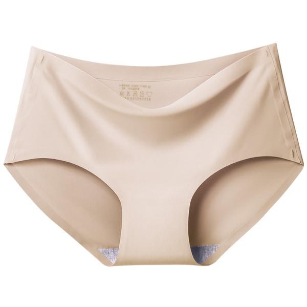 Women's Summer Seamless One-Piece Ice Silk Underwear Apricot,XL