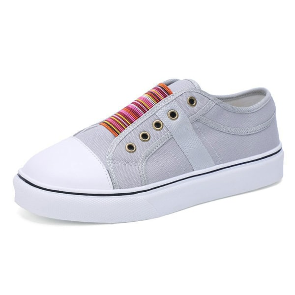 Women's summer single shoes soft sole casual shoes all-match Gray,40
