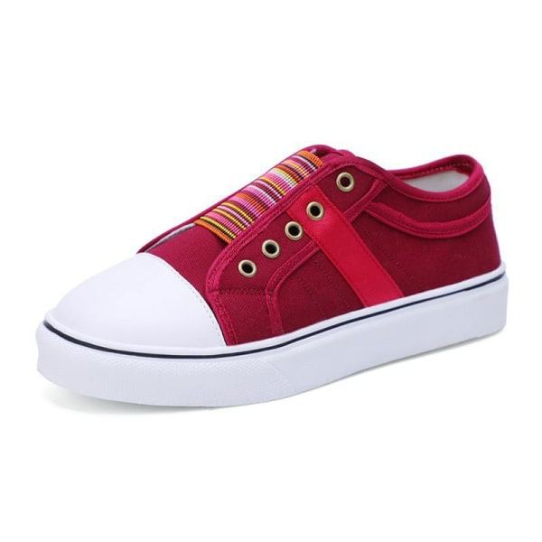 Women's summer single shoes soft sole casual shoes all-match Red,42