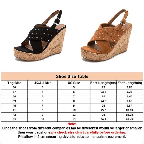 Women's wedge platform shoes summer hollow high heels Black,38