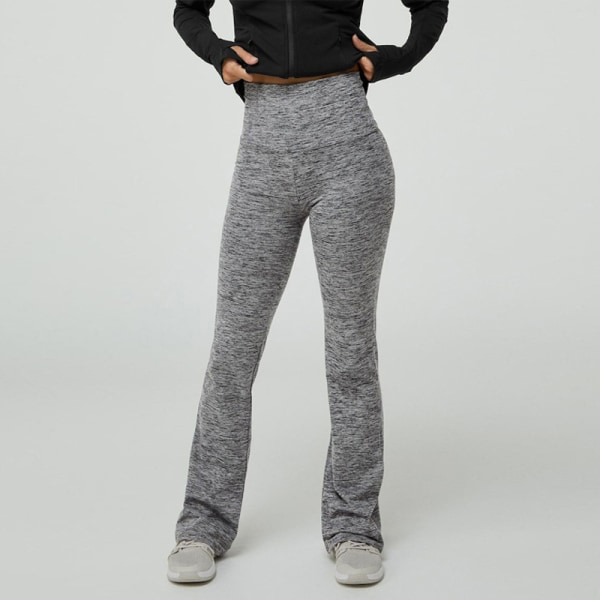 Women'S Yoga Leggings High Waisted Push Up Pants Sports Fitness Grey,S