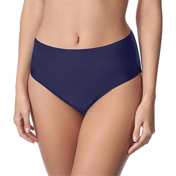 Women Swimming Trunks Bikini Bottom Pants Beach Shorts Tankini Blue,XXL
