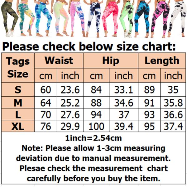 Womens High Waist Yoga Leggings Sports Pants Hip Scrunch Workout Cyan,L