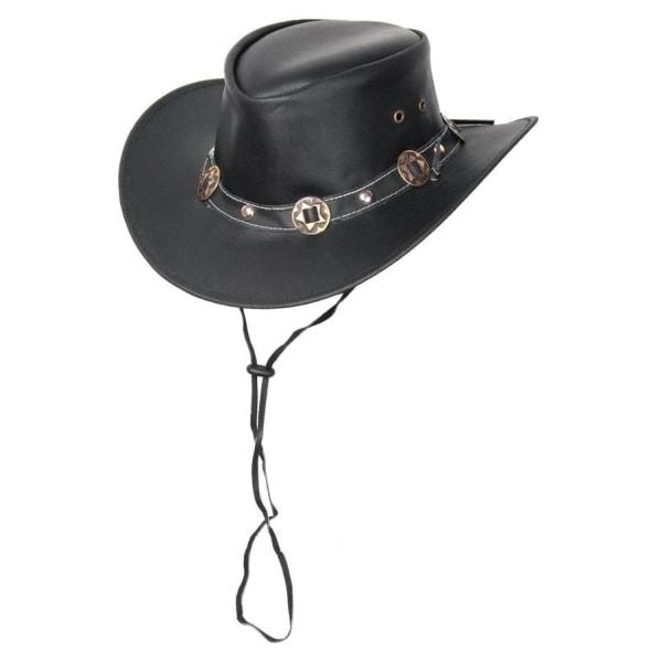 Skinnhatt Cowboy Cowgirl med CONCHOS.