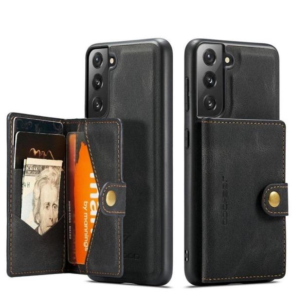 Premium skal med avtagbar plånbok i Läder till Samsung s21 Plus Svart