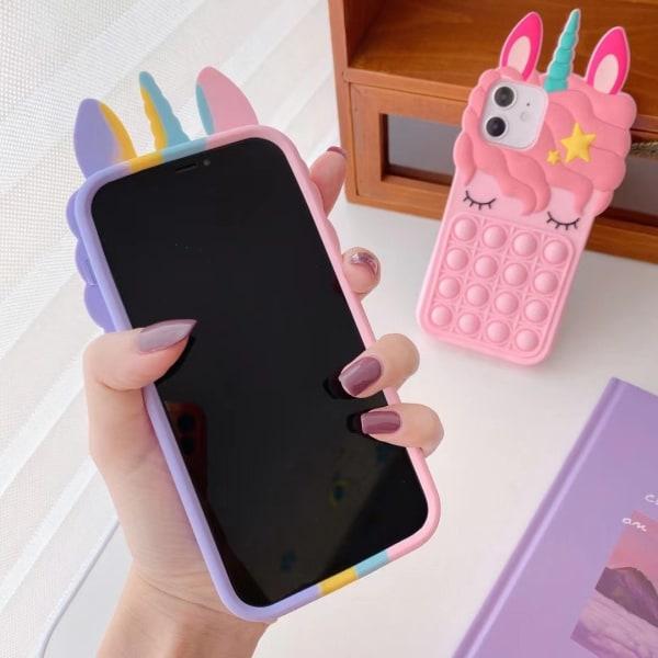 Pop it! Färglad Enhörning skal - till iPhone 11
