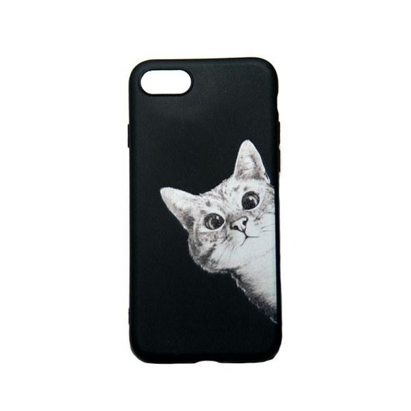 iPhone 6/7/8/SE (2020) - Skal med nyfiken katt