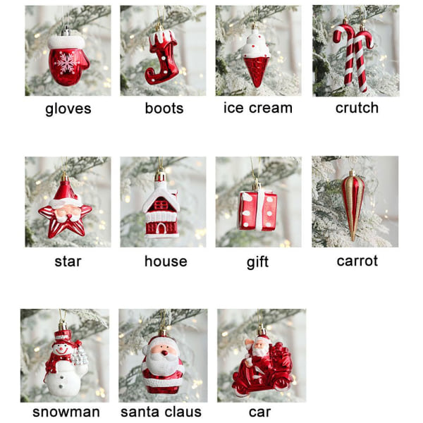 2 st/förpackning Hängande jul CRUTCH CRUTCH