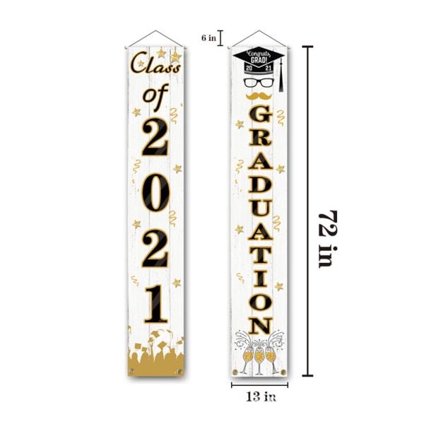Graduation Banner Hanging Flags CC