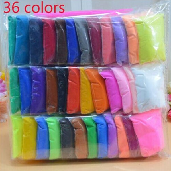 Soft Clay Plasticine Polymer 36 FÄRGER