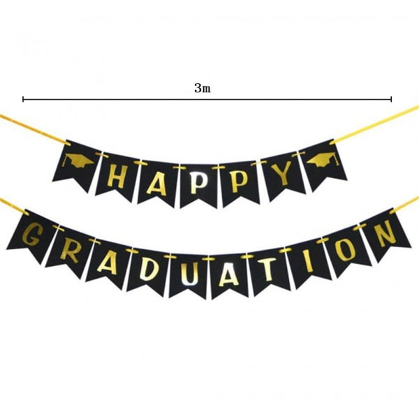 Grattis Grad Banner Graduation Banner Wall Hanging