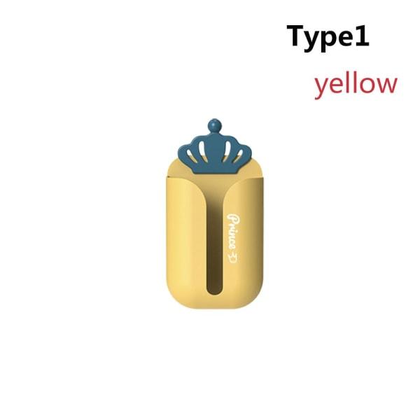 Pappershandduksställ Toalettvävnadslåda GUL TYP1