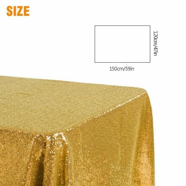 Rektangulär bordsöverdrag paljett glitter bordsduk SILVER
