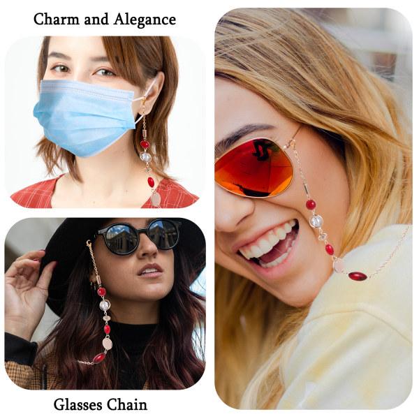 Crystal Glasses Chain Anti-drop Mask Chain Solglasögon Glasögon