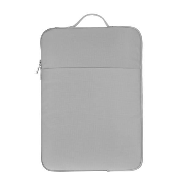 13,3 14 15,6 tum Laptopfodral Laptop Handväska LJUSGRÅ