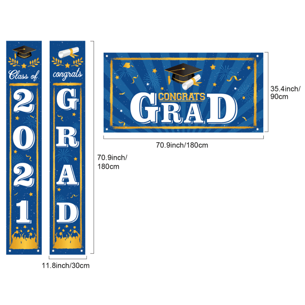 3st / uppsättning 2021 Graduation Decorations Class of 2021 Graduation