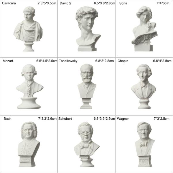Gipsbystporträtt Gipsstaty Grekisk mytologi BEETHOVEN