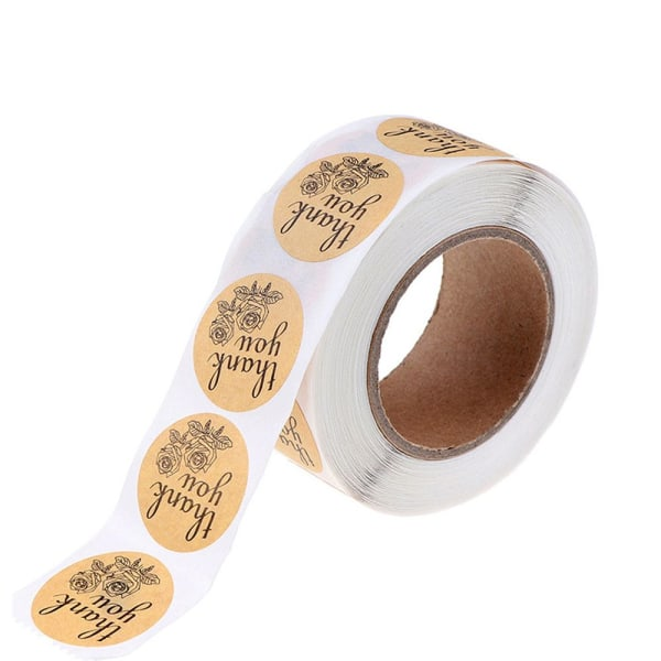 500st Tack Klistermärken Självhäftande presentpapper klistermärke 18