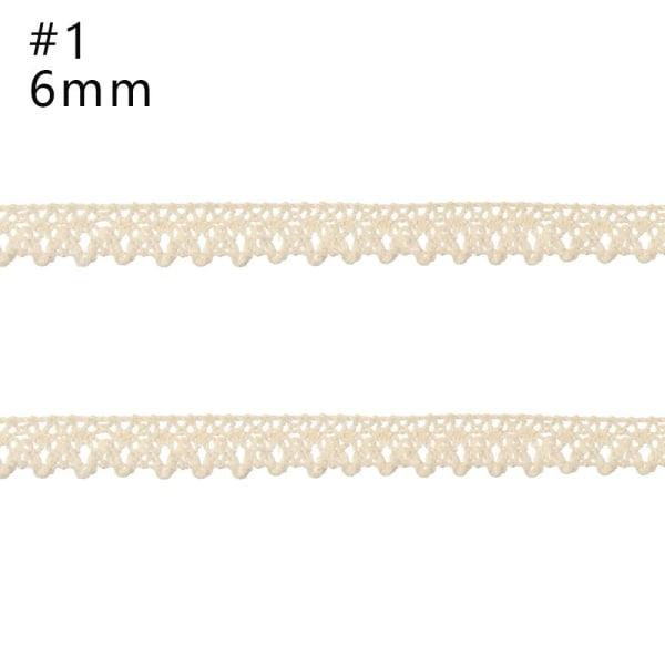 Beige spets DIY-material Bomullsmaterial 1