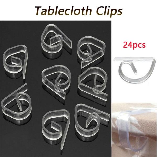 24st Bordsduk Clamp Table Cover Clip Klädnypor Håll Stabil