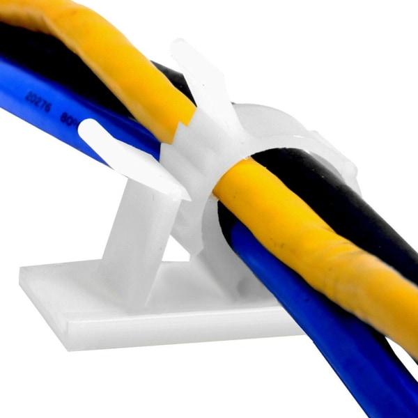 10st kabelklämma Fixerhållare Wire Management SVART 1316