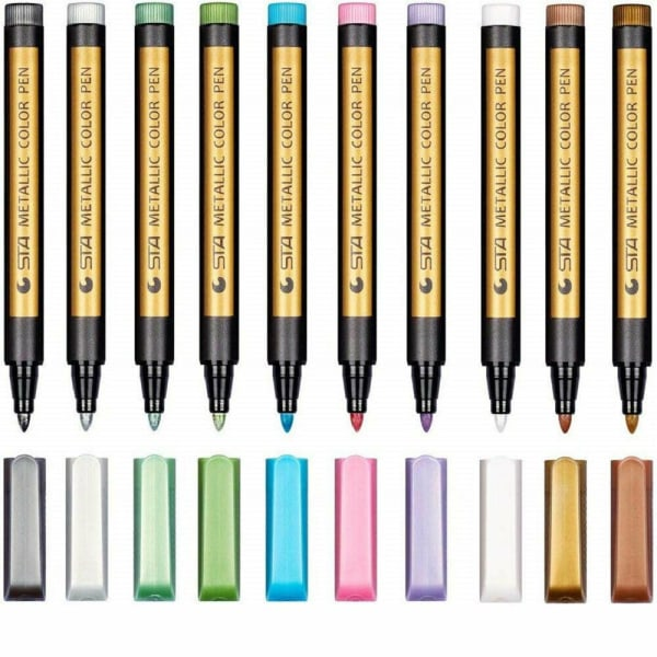 10st Marker Pen Set Album Photo Ink Pen Metalic Paint Writing