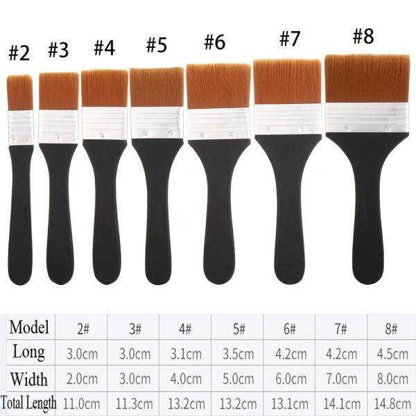 Pensel Oljemålning Rengöringsborstar MODELL 4
