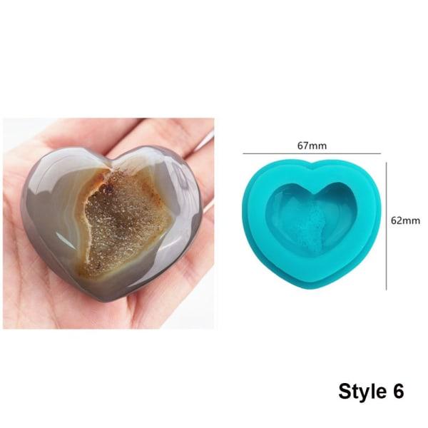 Hartsform Silikonkluster Kristallform STIL 6
