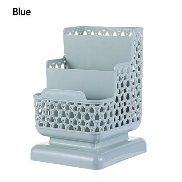 Desktop Storage Box Pen Case Cosmetic Organizer BLÅ