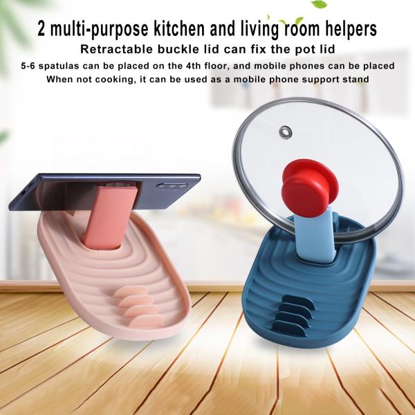 2PCS / Set Kök Silikon redskap vila skedhållare för spis