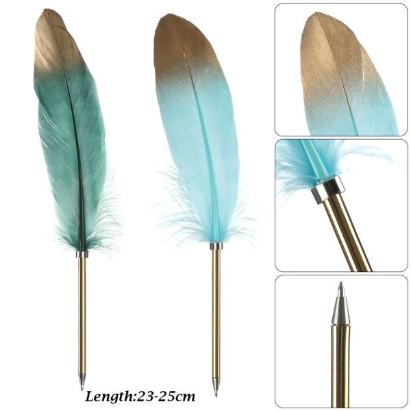 1PC Fjäderpenna Kulspetspennor Skrivverktyg Lila