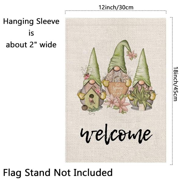 Summer Garden Flag Gnome Garden Banner VÄLKOMMEN1 (S) VÄLKOMMEN1 (S)